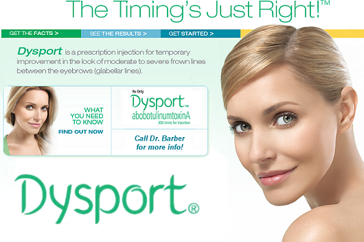 Dysport™ Injection for Frown Lines - Barber Center for