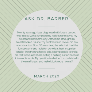 Ask Dr Barber March 2020